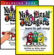 Nine Little Jellybeans Storybook and Coloring Book